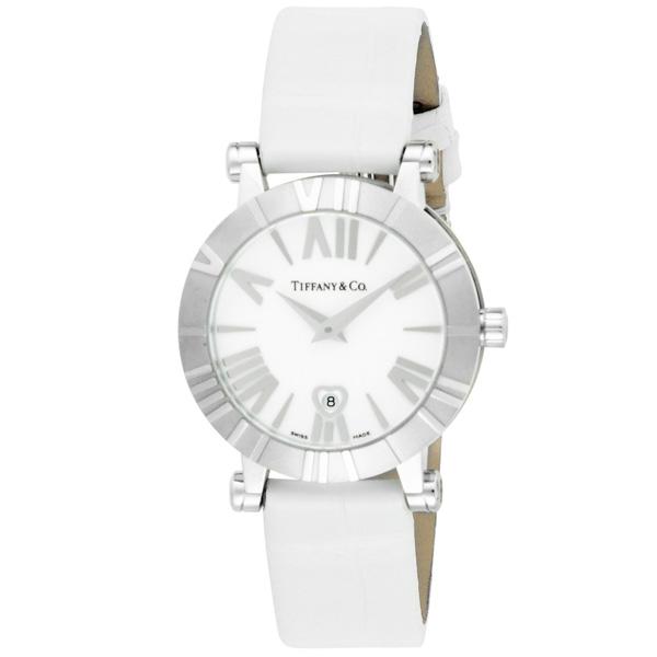 timeless design dd265 8aeb9 Tiffany & Co. ティファニー 腕時計 レディース Atlas ホワイト ...