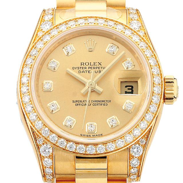 wholesale dealer fc671 e05cb ROLEX デイトジャスト レディース 腕時計 ゴールド 179158G ...