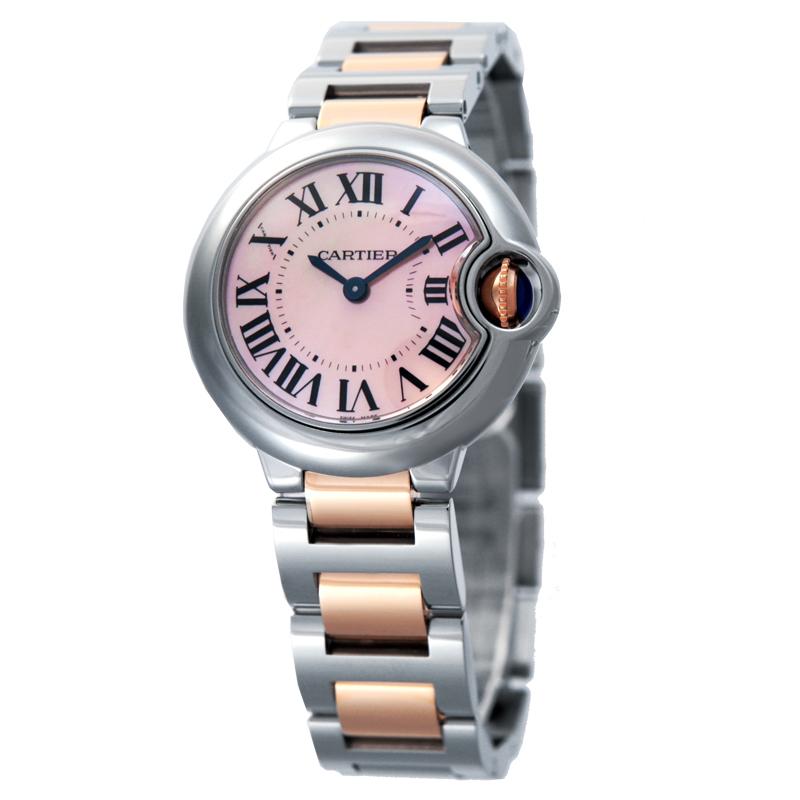 newest 5f278 6f3e6 CARTIER カルティエ 腕時計 バロンブルー W6920034 ピンクMOP ...