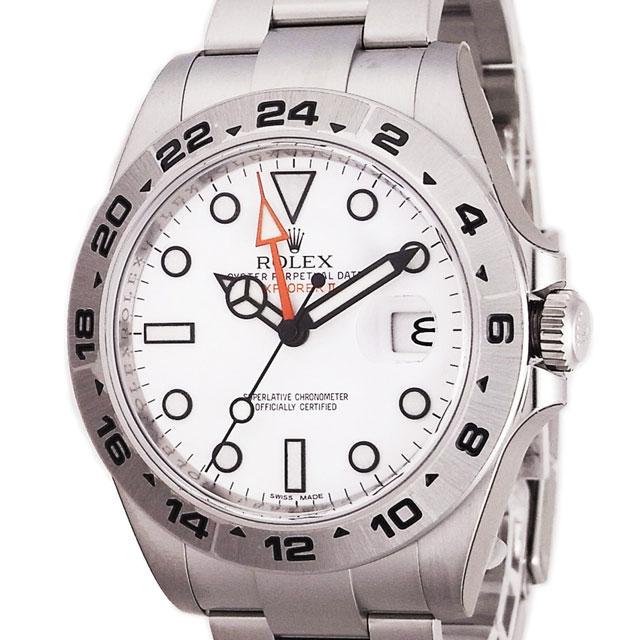 ROLEX エクスプローラーⅡ メンズ 腕時計 ホワイト 216570