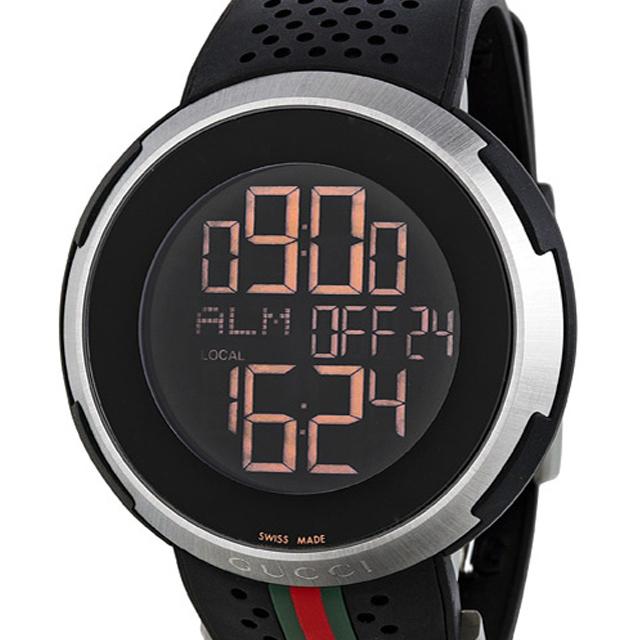 hot sale online b0607 d6998 GUCCI 腕時計 アイグッチ YA114103 ブラック(BKデジタル/ラバー ...
