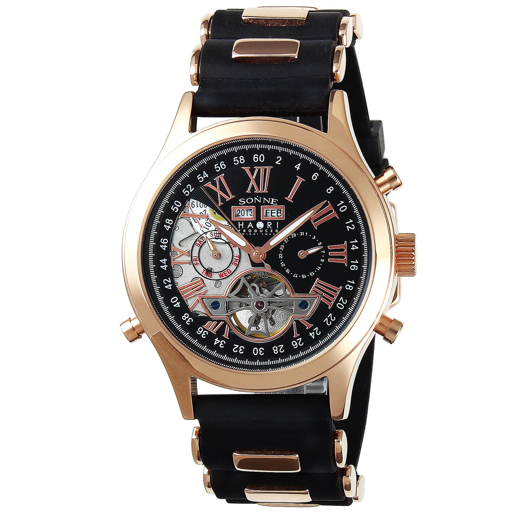 SONNE ゾンネ 腕時計 H003 ブラック H003PG-BK