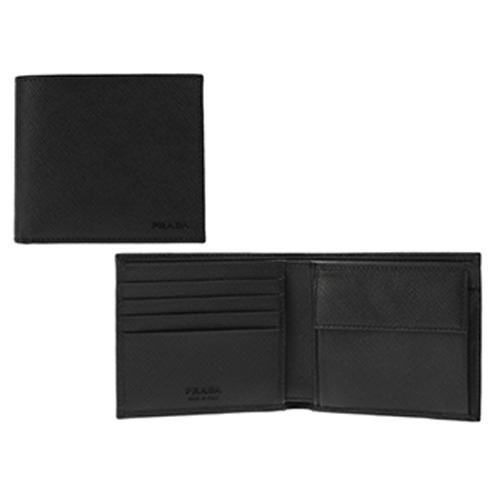 sale retailer 8e8c4 cac7c プラダ PRADA 二つ折財布 SAFFIANO 2MO738: 財布・コインケース ...