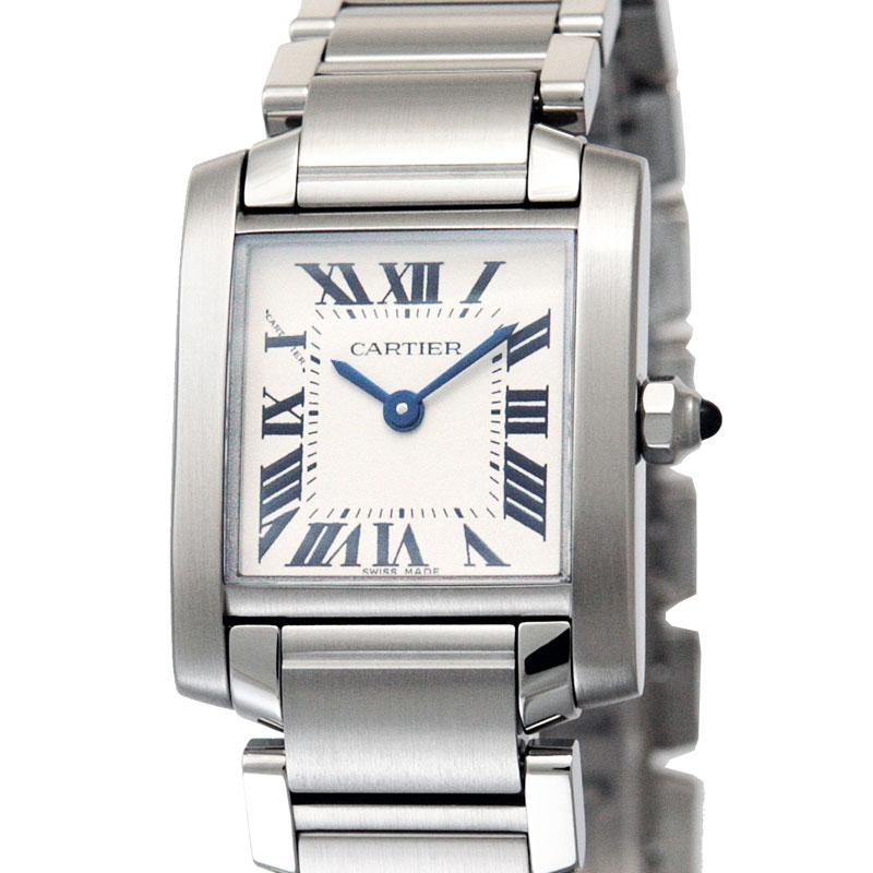 CARTIER カルティエ 腕時計 タンクフランセーズ W51008Q3 ホワイト