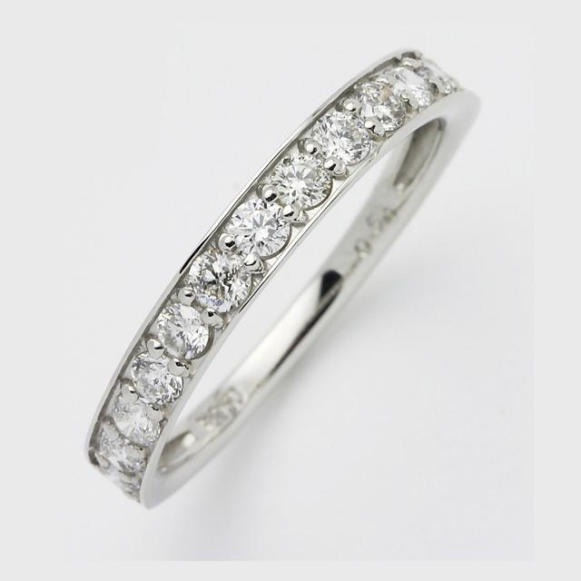 シンプルダイヤモンド プラチナダイヤリング HDTR5134P