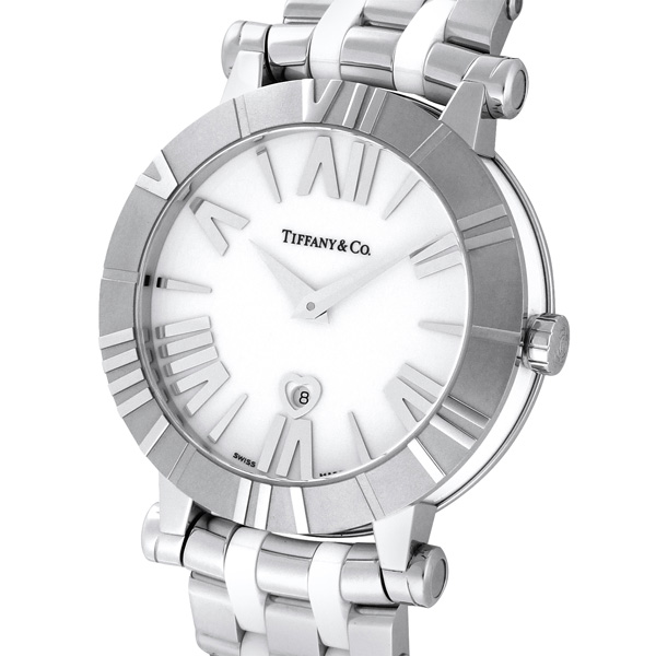 timeless design 122f4 2167d Tiffany & Co. ティファニー 腕時計 レディース Atlas ホワイト ...