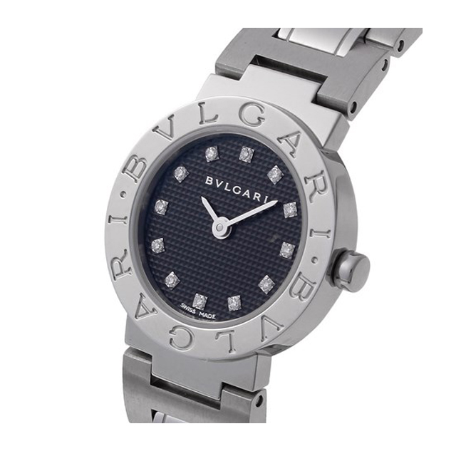 2f05571440 ... BVLGARI ブルガリ レディース 腕時計 ブルガリブルガリ ブラック BB23BSS/12 ...