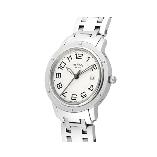 on sale 707b3 3ed0f HERMES エルメス レディース 腕時計 クリッパー シルバー CP1 ...