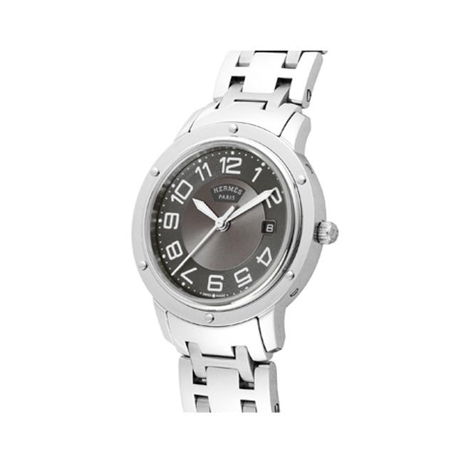 promo code 0bd72 1dfb5 HERMES エルメス レディース 腕時計 クリッパー グレー CP1 ...
