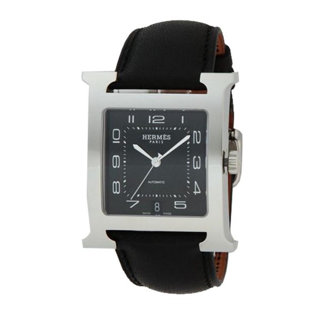 wholesale dealer a5b3b fdd65 HERMES エルメス メンズ 腕時計 Hウォッチ ブラック HH2 ...