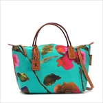ROBERTA PIERI ロベルタピエリ トートバッグ FLOWER BERMUDA GREEN SMALL DUFFLE