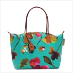 ROBERTA PIERI ロベルタピエリ トートバッグ FLOWER BERMUDA GREEN LARGE TOTE