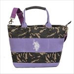 ユーエスポロアッスン U.S. POLO ASSN. トートバッグ WIDE BORDER SUEDE US2504 CAMOUFLAGE×PURPLE