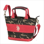 ユーエスポロアッスン U.S. POLO ASSN. ハンドバッグ WIDE BORDER SUEDE US2505 CAMOUFLAGE×RED