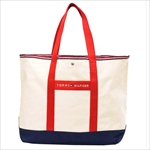 TOMMY HILFIGER トミーヒルフィガー Core Plus TOTE トートバッグ NATURAL / NAVY/RED 6923662