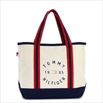 TOMMY HILFIGER トミーヒルフィガー Chase Print SMALL TOTE トートバッグ NATURAL / NAVY 6927896