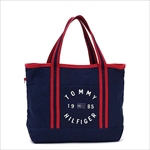 TOMMY HILFIGER トミーヒルフィガー Chase Print SMALL TOTE トートバッグ NAVY / RED 6927896
