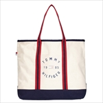 TOMMY HILFIGER トミーヒルフィガー Chase Print LARGE TOTE トートバッグ NATURAL / NAVY 6927897