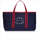 TOMMY HILFIGER トミーヒルフィガー Chase Print LARGE TOTE トートバッグ NAVY / RED 6927897