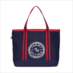 TOMMY HILFIGER トミーヒルフィガー Judith Print SMALL TOTE トートバッグ NAVY / RED 6927898