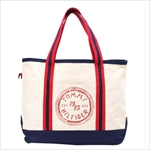 TOMMY HILFIGER トミーヒルフィガー Judith Print SMALL TOTE トートバッグ RED / NATURAL 6927898