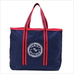 TOMMY HILFIGER トミーヒルフィガー Judith Print LARGE TOTE トートバッグ NAVY / RED 6927899
