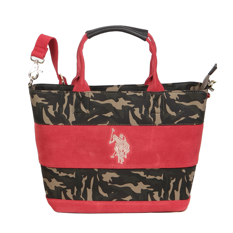 d62aa62412 ユーエスポロアッスン U.S. POLO ASSN. トートバッグ WIDE BORDER SUEDE US2504 CAMOUFLAGE×RED